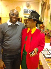 Seon Lewis with Joe Country at the St. John Educator's Scholarship Fund Book Events 2013